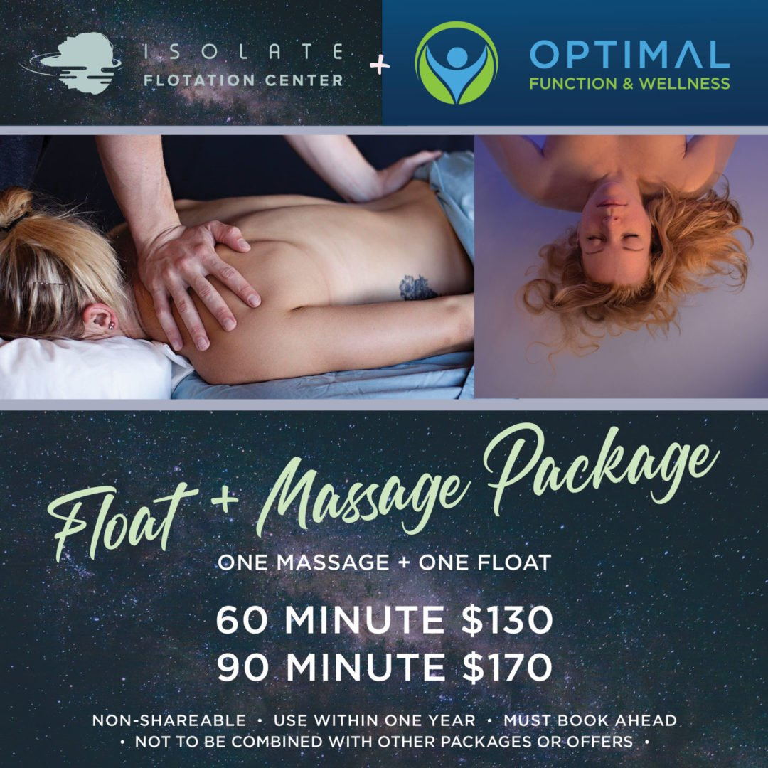Massage and Float Package in Boulder, CO